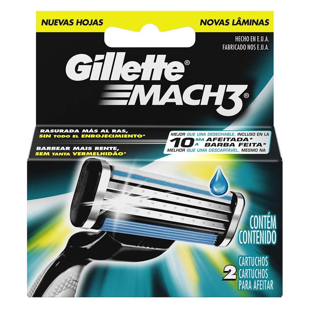 Gillette Mach3 Cartuchos Para Afeitar x 2 Und - tiendasjumbo.co ... c50a72dccfbc