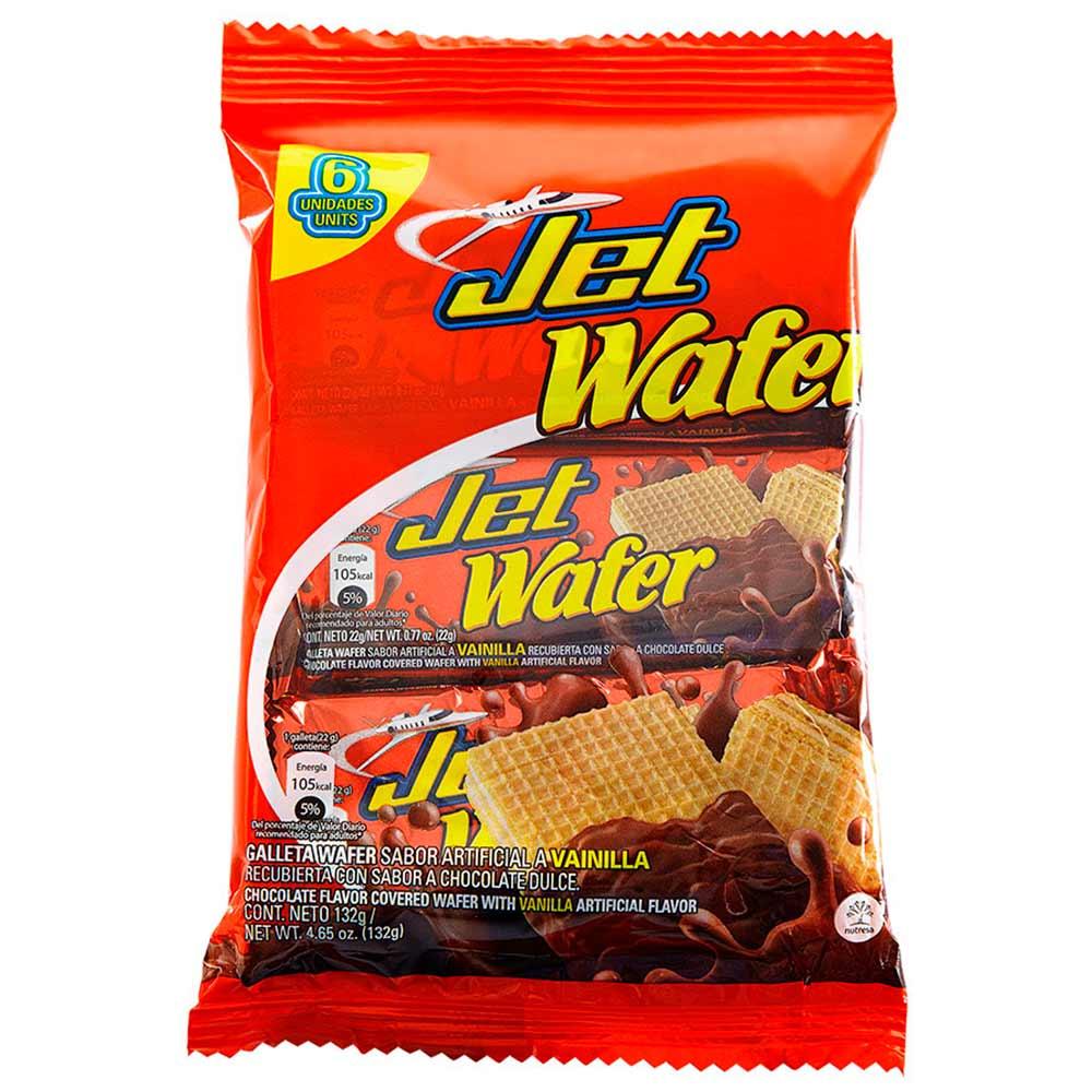 Galletas Wafer Jet Vainilla X 6 Und X 132 G Tiendasjumbo Co  # Tienda Vainilla Muebles