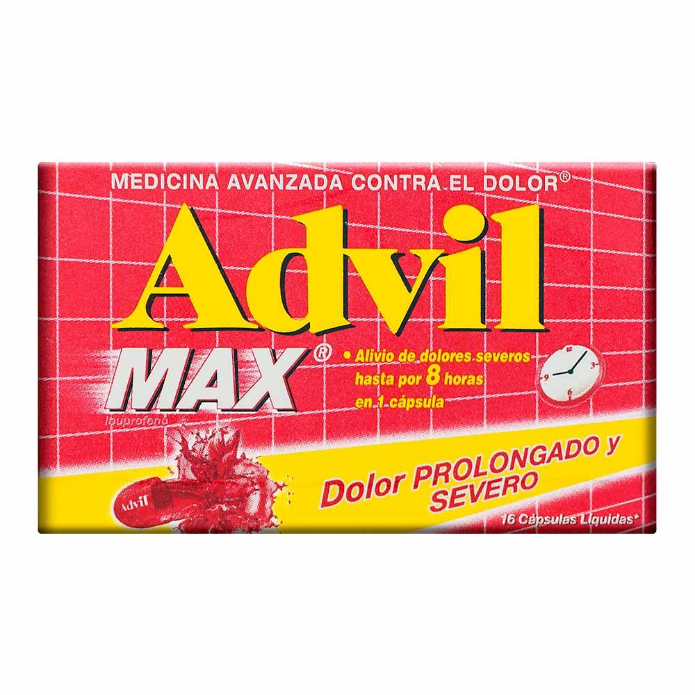 Advil Max X 16 Capsulas Jumbo Colombia