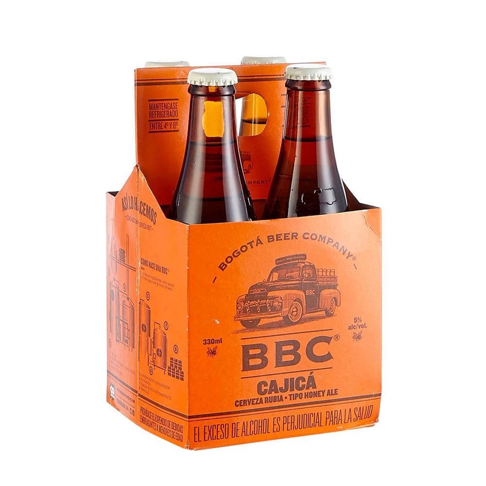Cerveza rubia Cajica BBC x 4 und x 1320 ml