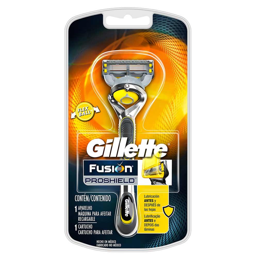 Gillette Fusion Proshield Máquina Para Afeitar Recargable + 1 Cartucho Para  Afeitar cb9cc4db2b8d