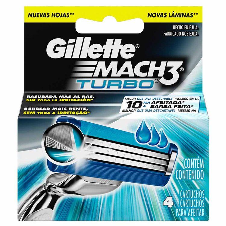 Gillette Mach3 Turbo Cartuchos Para Afeitar x 4 Und - tiendasjumbo ... 00a463505831