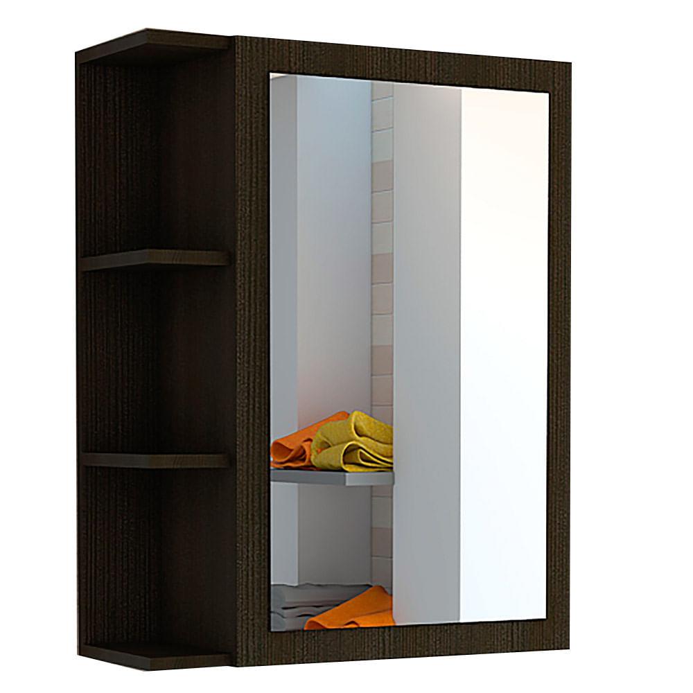Joyero Gabinete con Espejo Wengue 70 x 60 x 21.5 Cm - tiendasjumbo ...