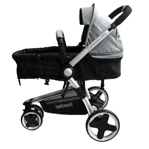 d5ef725db Coche Travel System Compass Elite Negro Con Base - Jumbo Colombia
