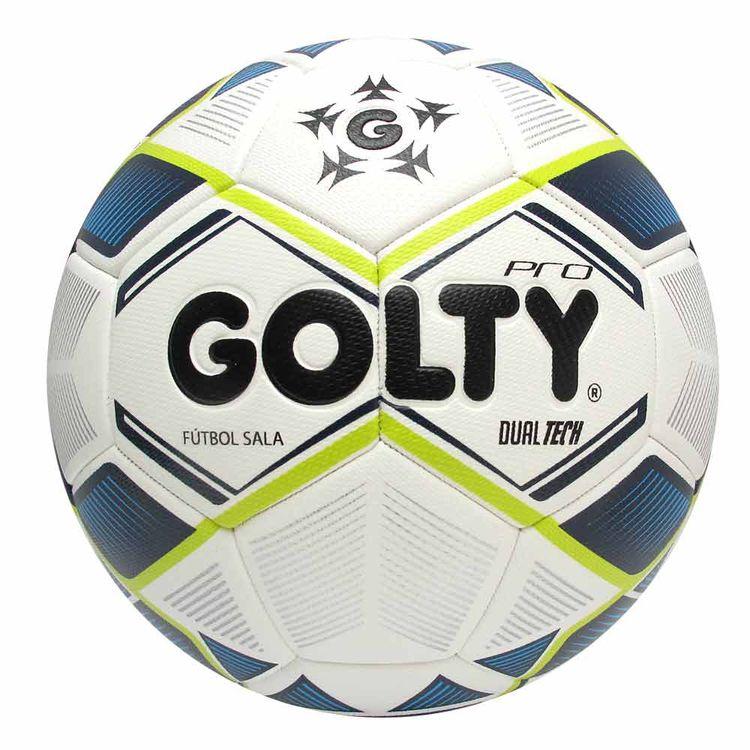 38714f7054e05 Balón de fútbol Sala pro dualtech Blanco azul Verde - Golty ...