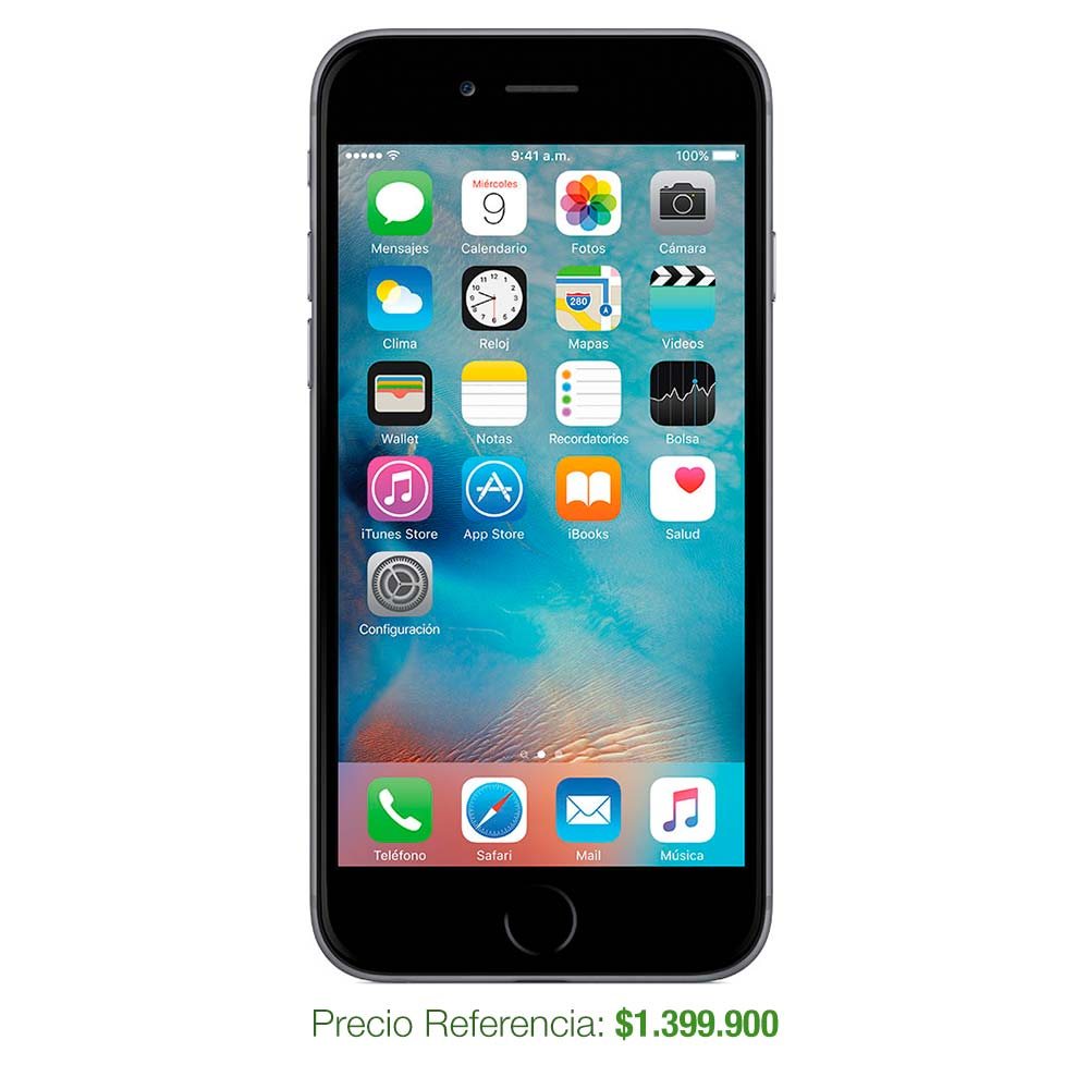 Celular iphone 6 reacondicionado - 16gb space gray