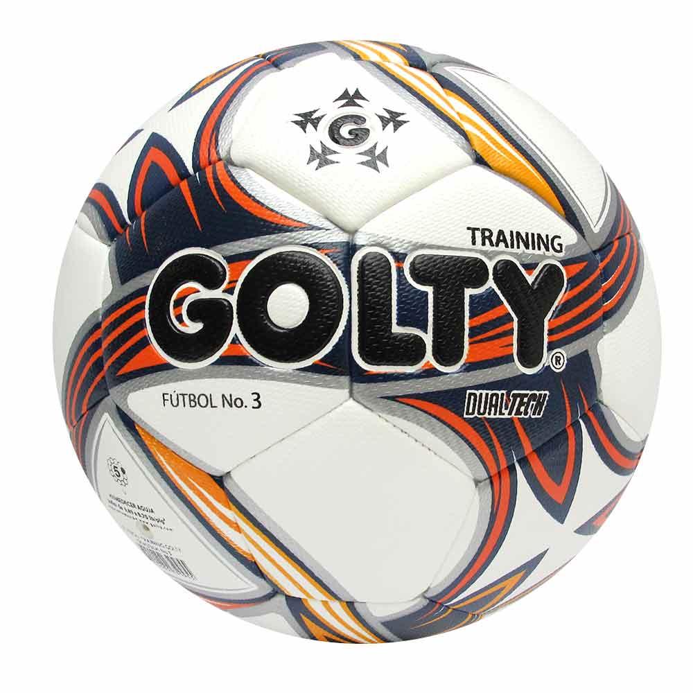 Balón de fútbol Pro Dualtech N°3 blanco-azul-rojo-amarillo - Golty ... c38c69149ee1b