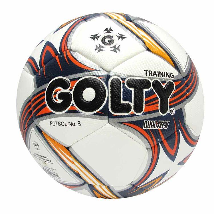 3b510cdcb50e2 Balón de fútbol Pro Dualtech N°3 blanco-azul-rojo-amarillo - Golty ...