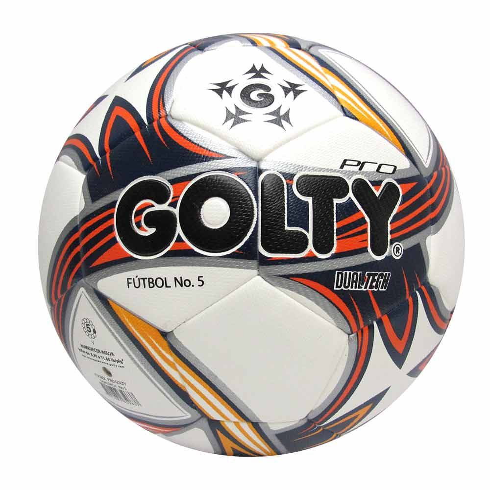 6c5af4eee0623 Balón de fútbol Pro Dualtech N°5 color blanco-rojo-amarillo - Golty ...