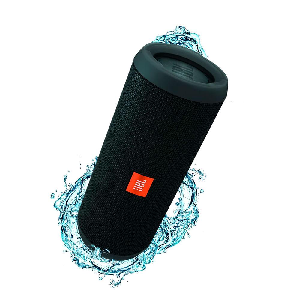 Parlante jbl flip 4 negro bluetooth waterproof bateria 12h