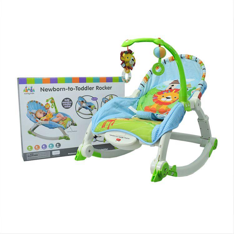 20e379e0c Silla para Bebe Mecedora Vibradora Azul Konig Kids 12M- - Jumbo Colombia