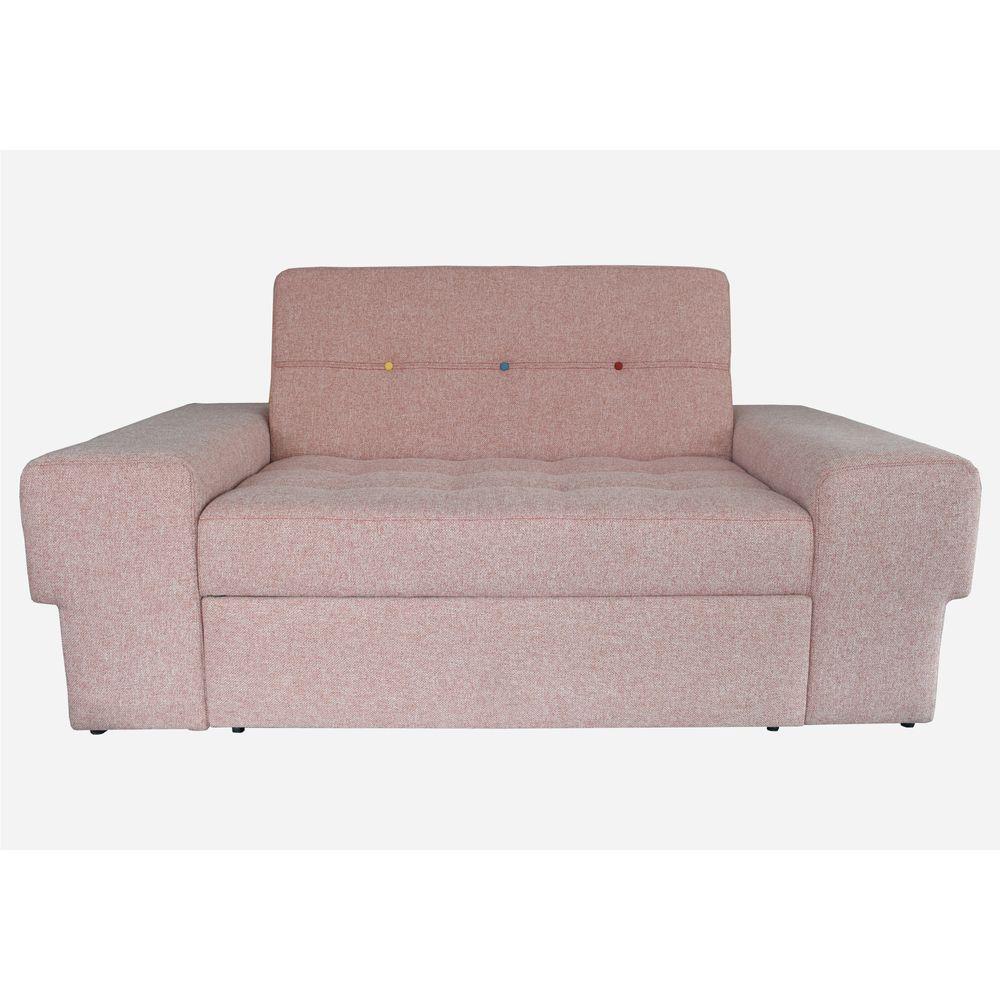 Sofá cama cajón Play tela Monet Rosé - Tiendas Jumbo