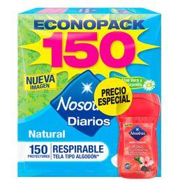 7702026146306-Protectores-Diarios-Nosotras-Natural-Respirable-x-150und---Jabon-Corporal-x-150ml-1