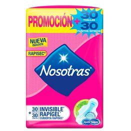 7702027414817-Toallas-Higienicas-Nosotras-Invisible-Rapigel-Cubierta-Rapisec-x-30und---Pañitos-Intimos-x-30und-1