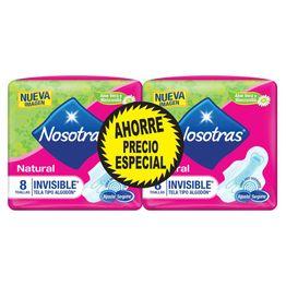 7702027416927-Toallas-Higienicas-Nosotras-Natural-Invisible-Tela-Tipo-Algodon-2paq-x-8und-1