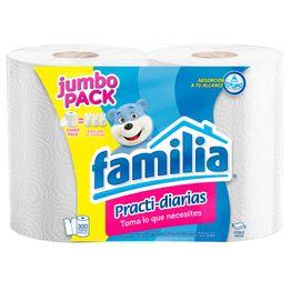 7702026175580-Toallas-de-Cocina-Familia-Practi-diarias-Jumbo-Pack-x-2-Rollos-de-300-Hojas-1