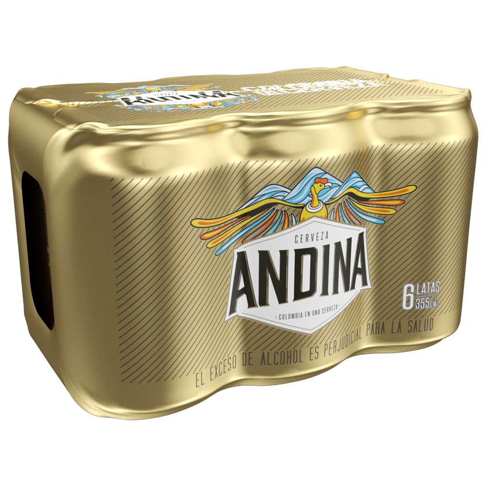 Cerveza Andina lata x 6 und x 355ml c-u