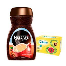 Café Nescafe tradición soluble x170g+splenda