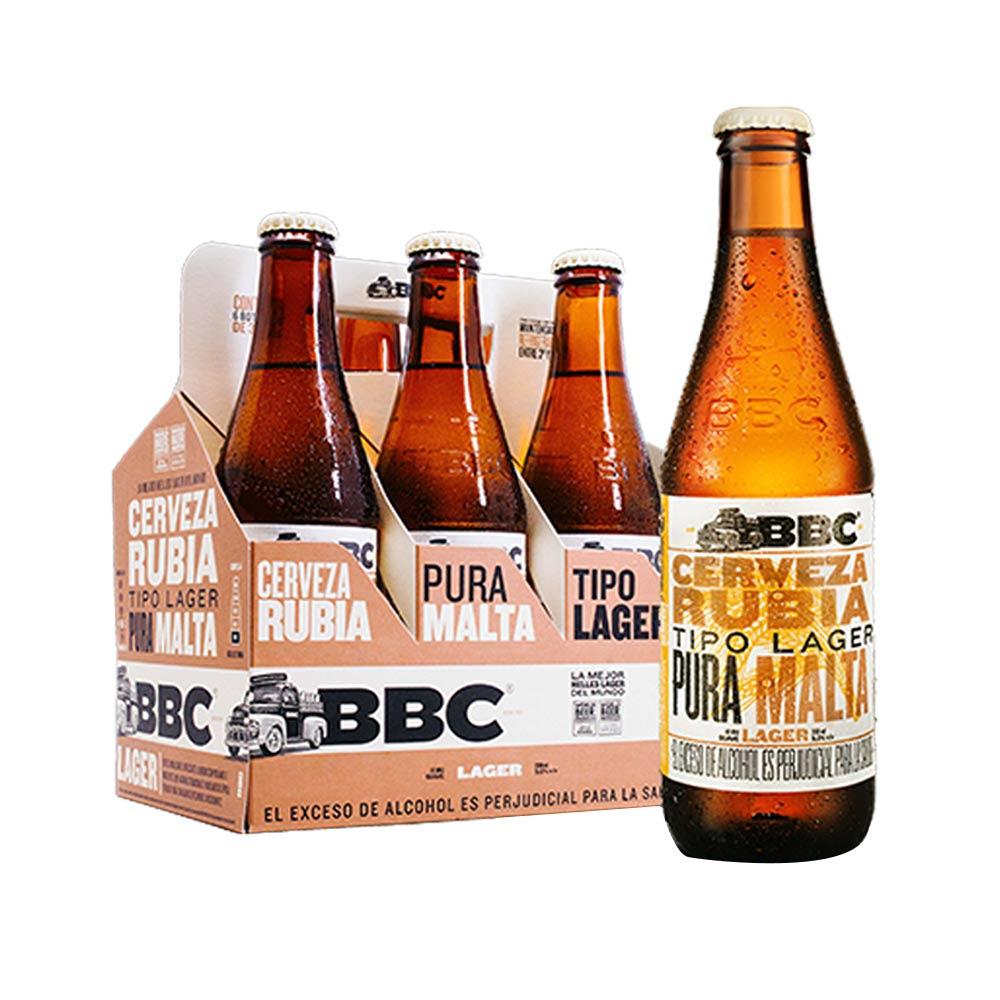 Cerveza rubia premium lager BBC x 6 und x 330 ml c-u