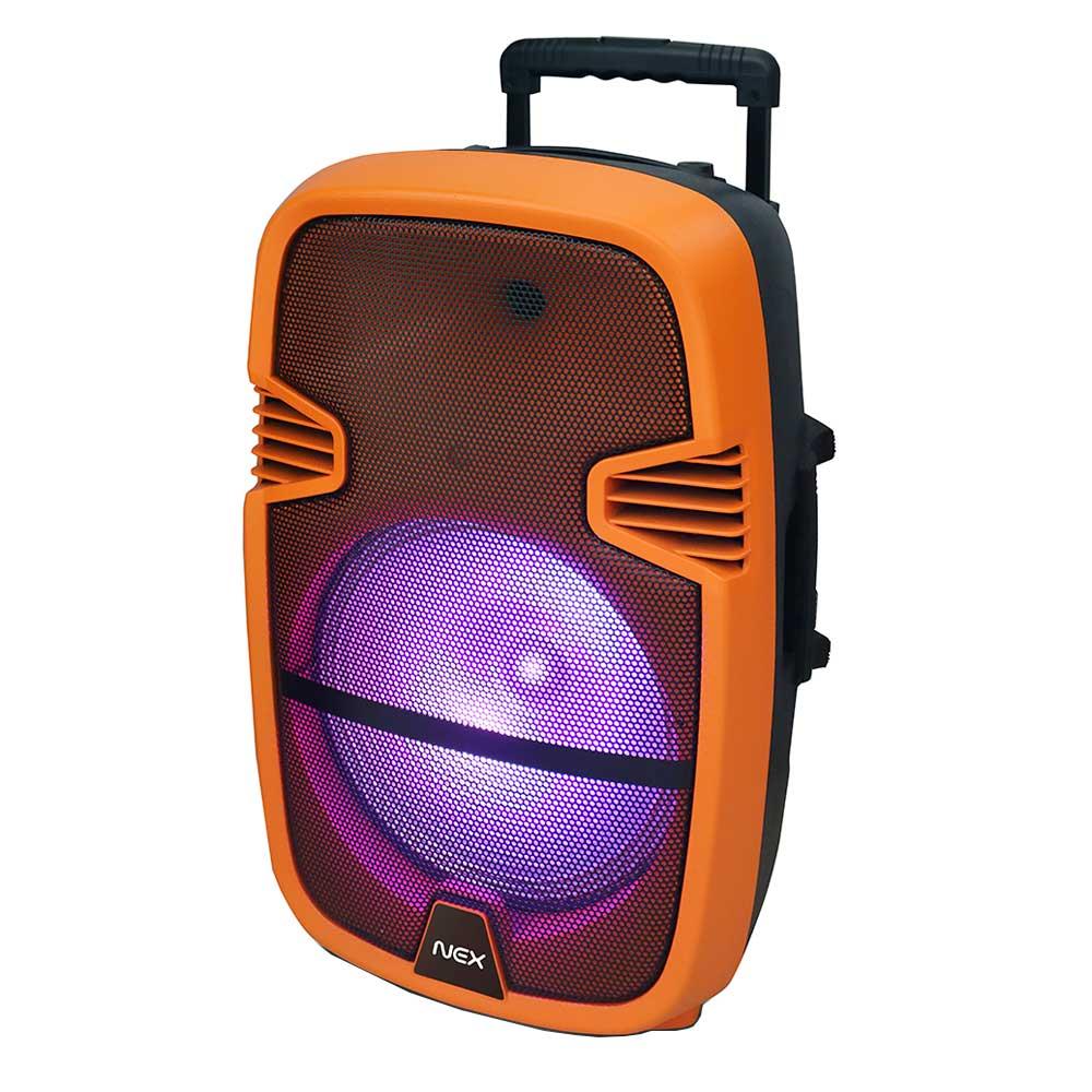 """parlante nex ksp6012bt karaoke bt 12"""" naranja"""