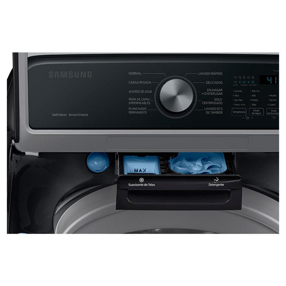 lavadora samsung 22kg wa22a3354gv/co carga superior negro