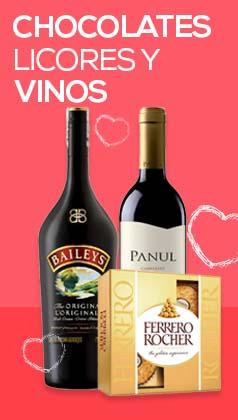 Regalar Chocolates,vinos y licores en Amor y Amistad