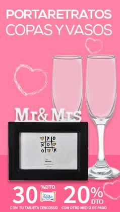 Portaretratos y copas para celebrar Amor y Amistad